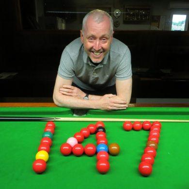 John Hunter records maximum break