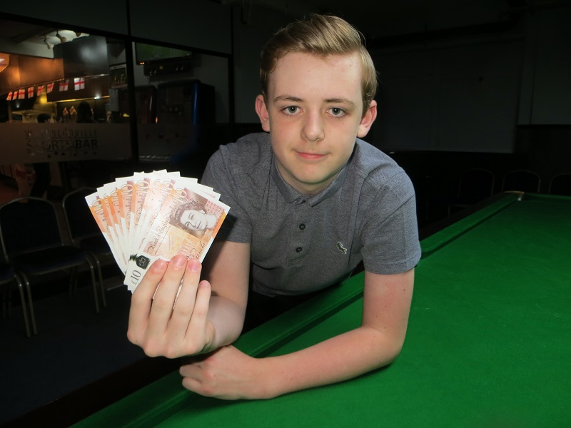 Jamie Wilson pockets £80 in Coulsdon