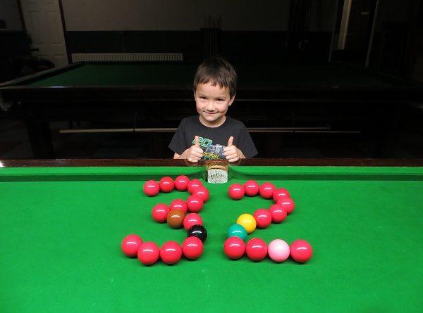 Six-year-old makes 32 break